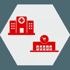 I nostri prodotti e servizi per ospedali, supermercati e strutture pubbliche